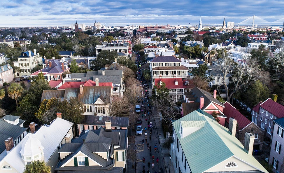 Charleston Marathon Aerial View