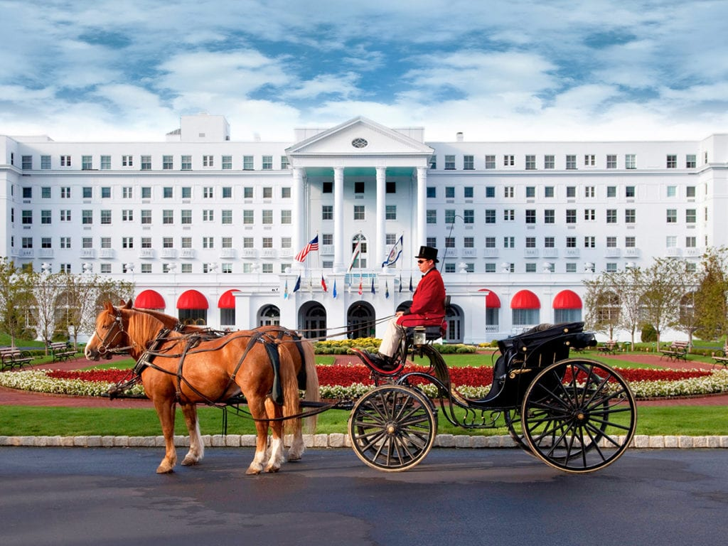 Greenbrier hotel with carriage outfront