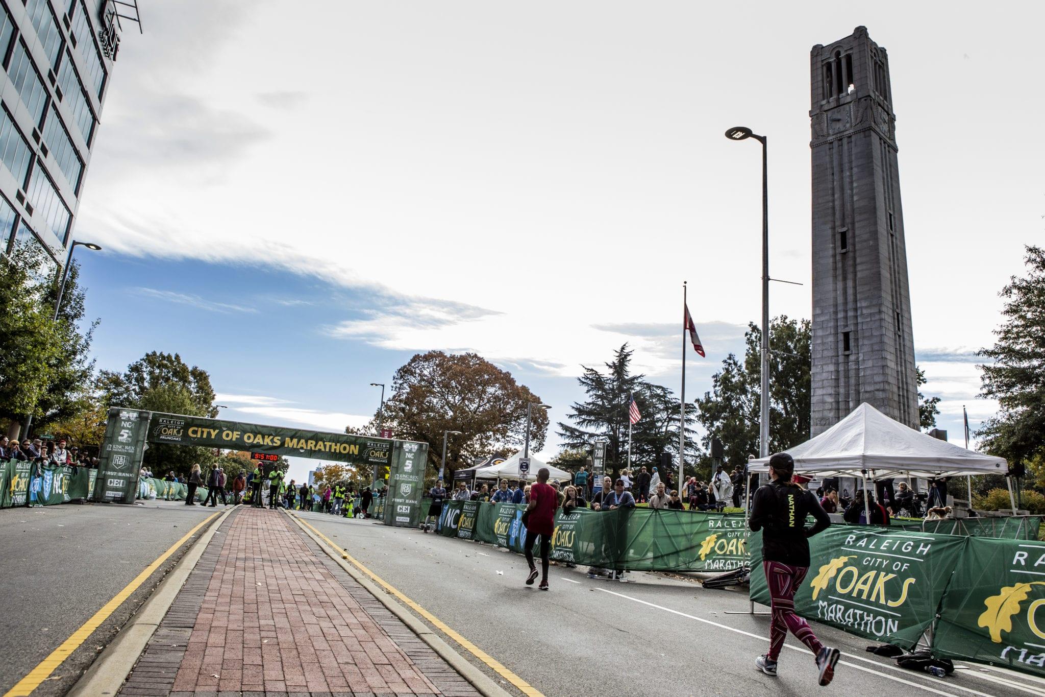 Raleigh marathon near NC State