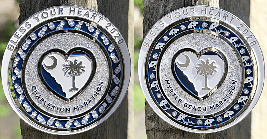 Charleston Marathon Bless Your Heart Medal