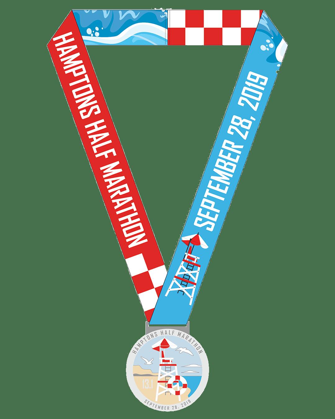 Hamptons Half Marathon Medal