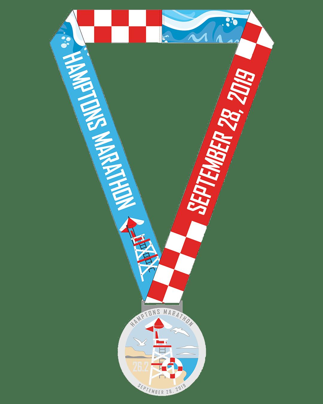 Hamptons Half Marathon Medal 2019
