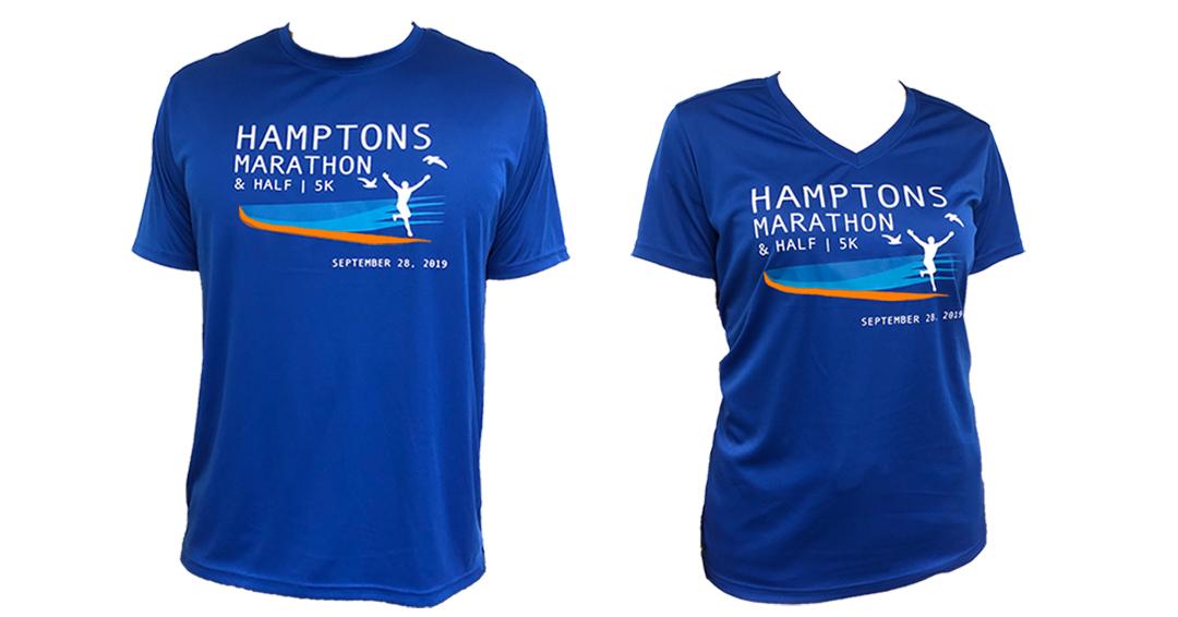 hamptons half marathon tshirt