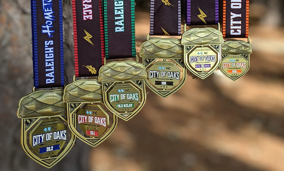 Raleigh City of Oaks 2019 Medals