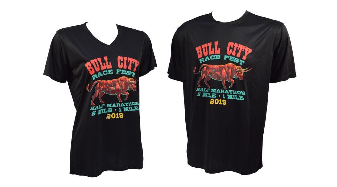 bull city race fest participant shirt