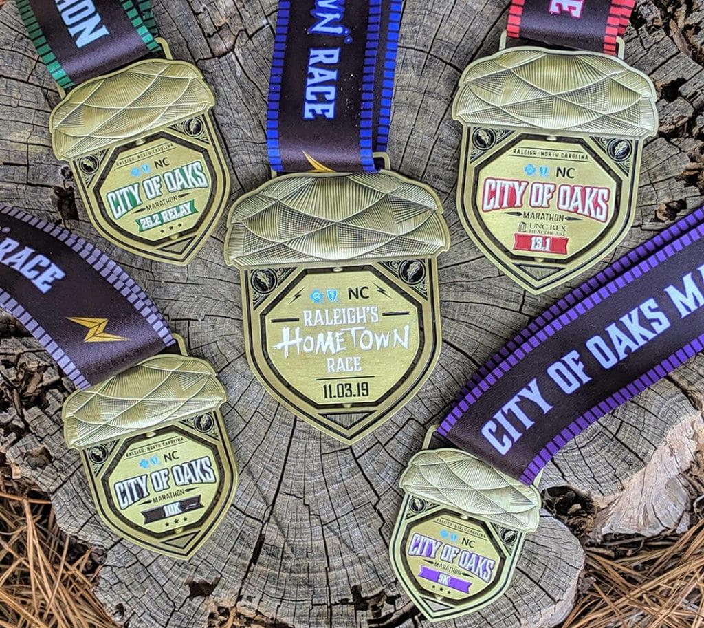 City of Oaks Finisher Medal