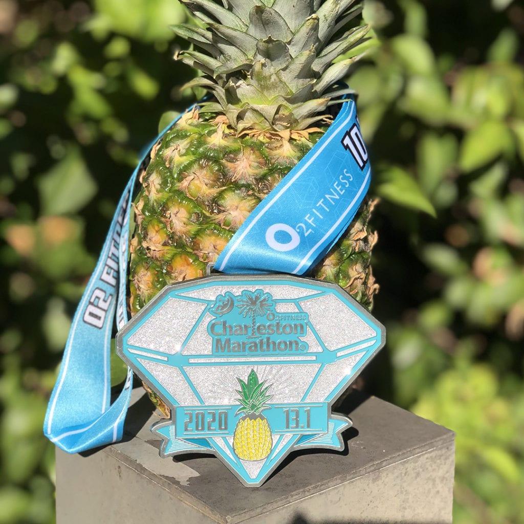 charleston half marathon medal