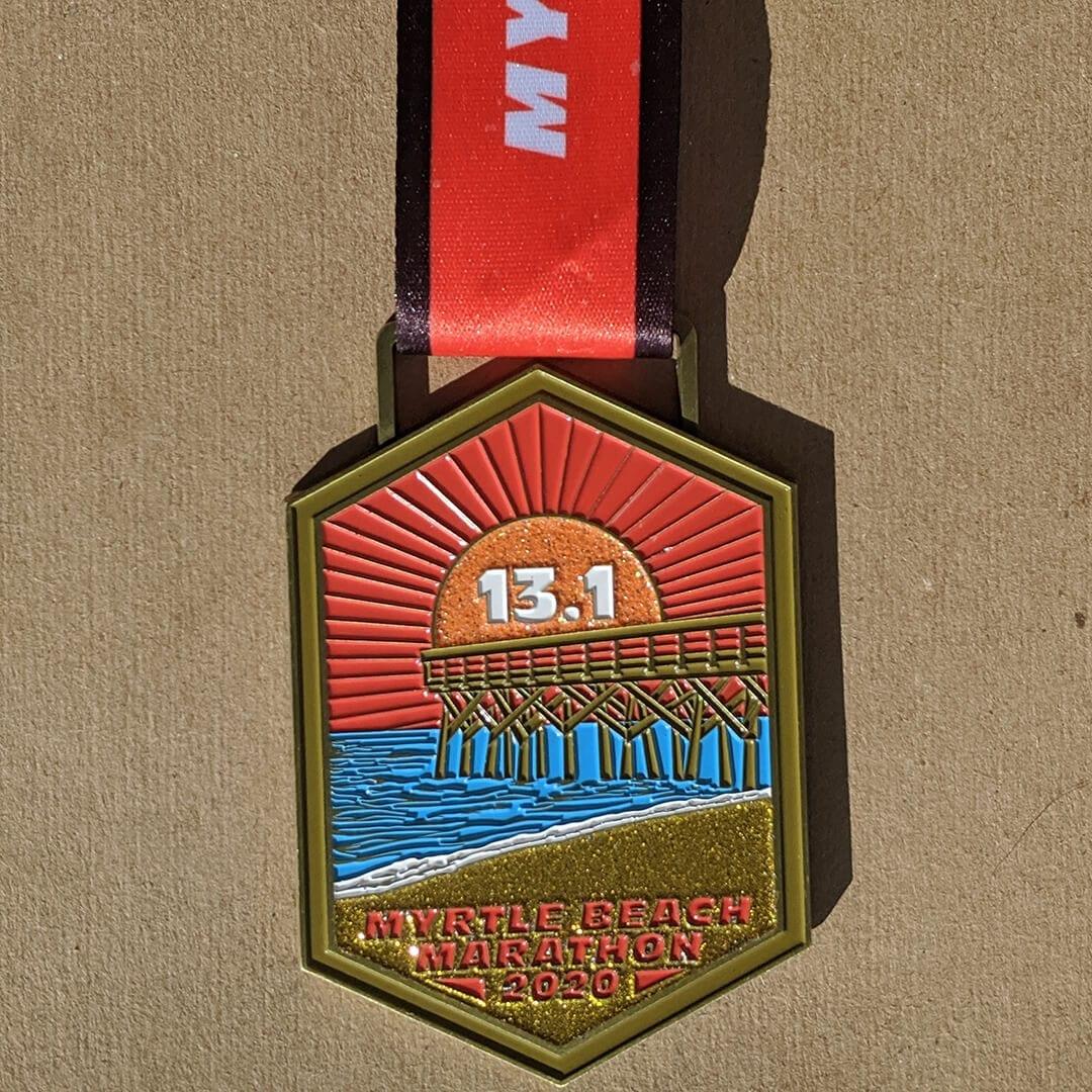 Myrtle Beach Marathon Half Marathon Finisher Medal