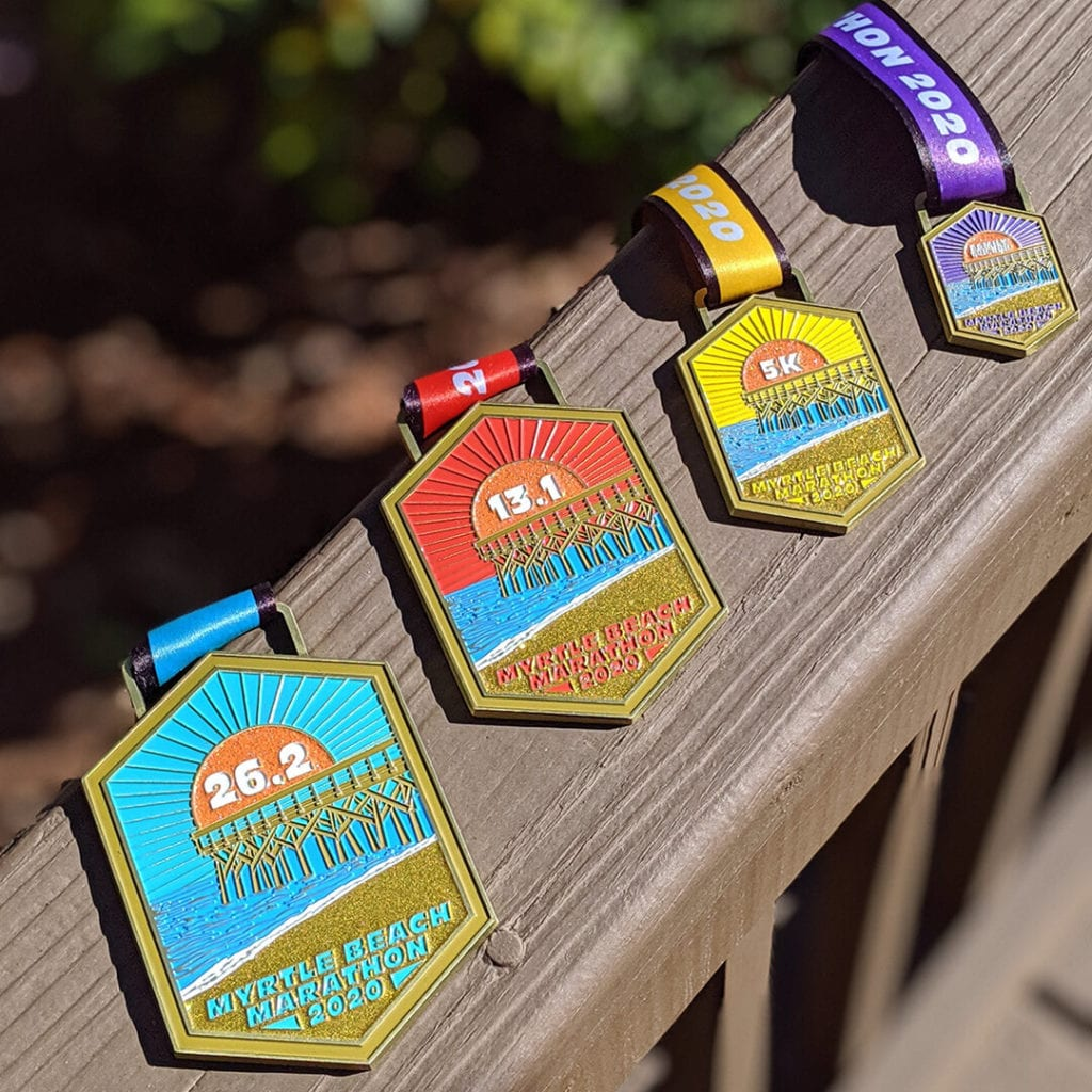 2020 Myrtle Beach Marathon Finisher Medals