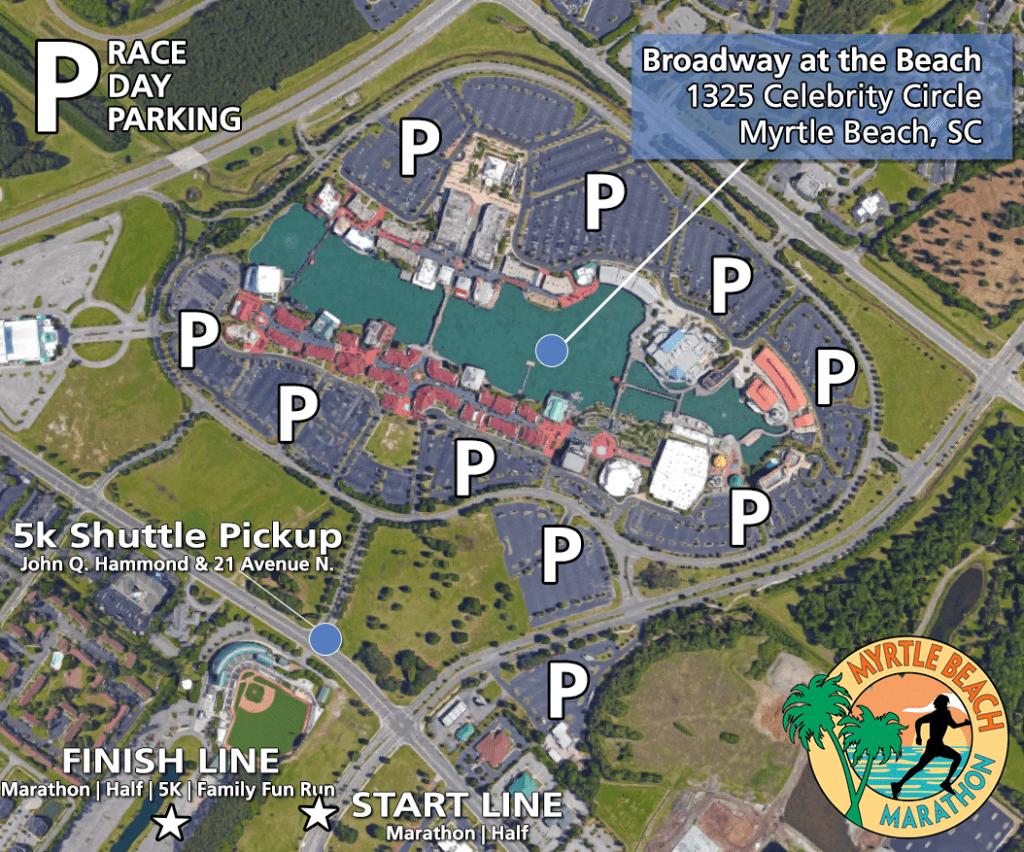 Myrtle Beach Marathon 2020 Parking