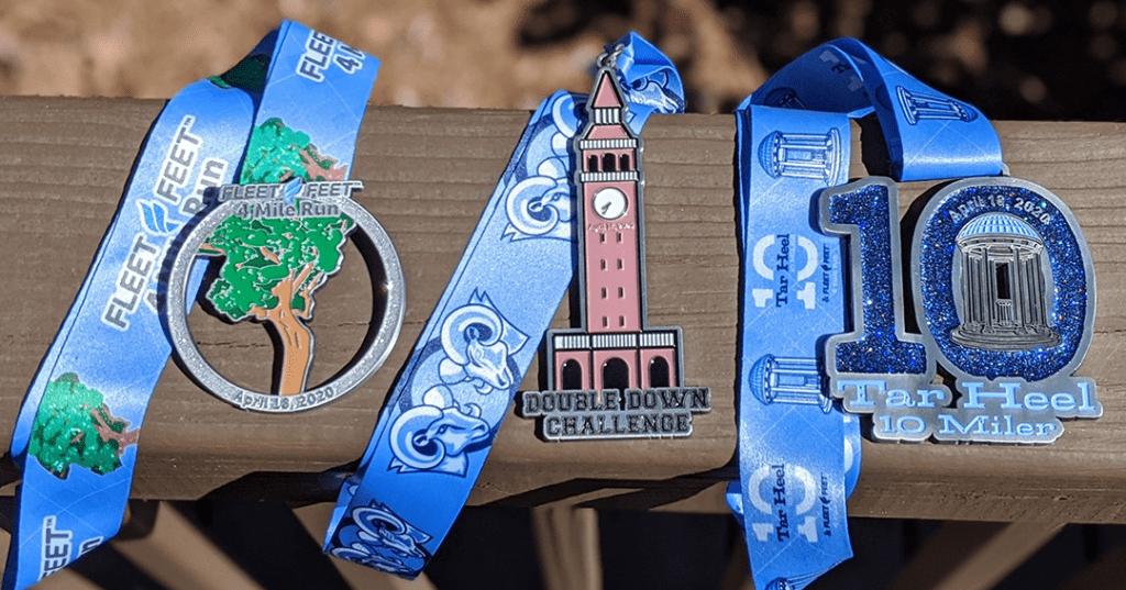 Tar Heel 10 Miler 2020 Finisher Medals