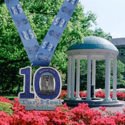 Tar Heel 10 Miler 2020 Medal